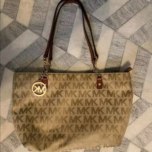 Michael Kors signature tote purse